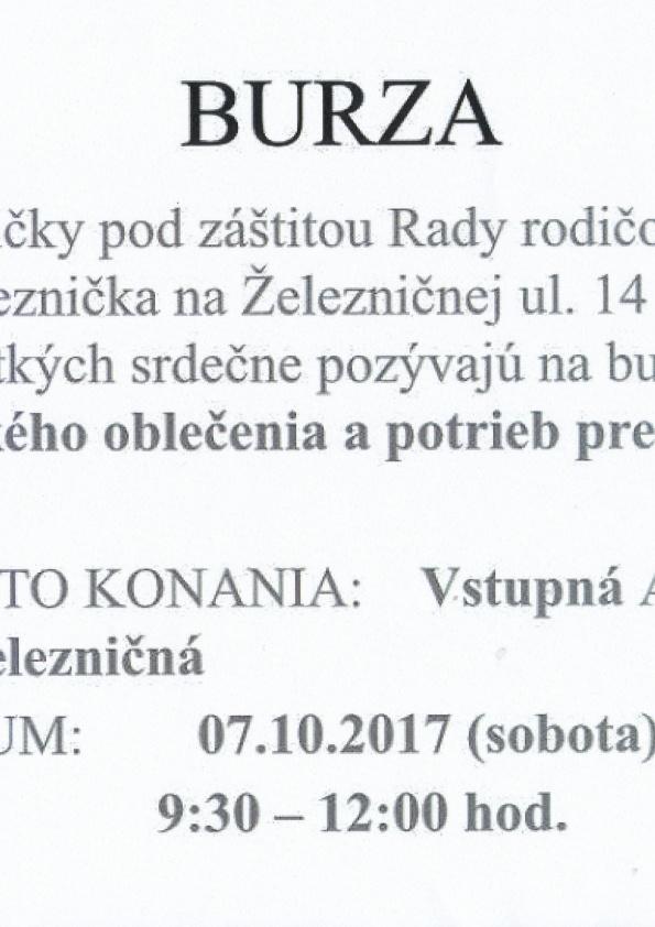 0cc036123b09 Burza detského oblečenia a potrieb pre deti v ZŠ Železničná.