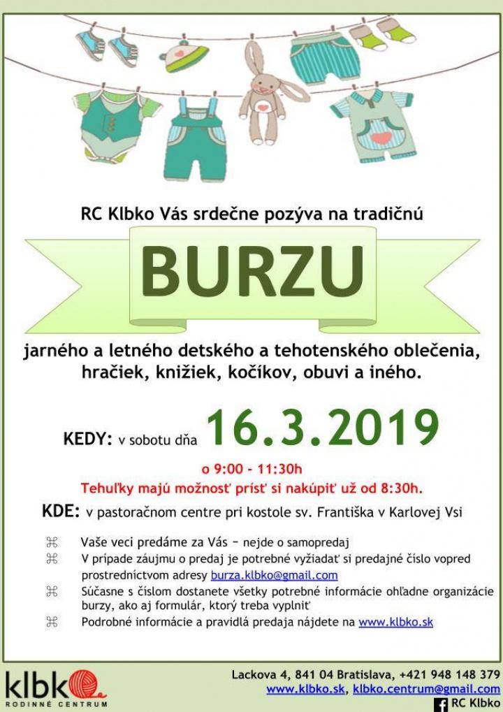 edef80c93b5b Jarná burza detského oblečenia v RC Klbko
