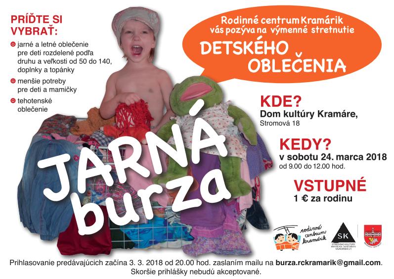 70715dc64e33 Jarná burza detského oblečenia